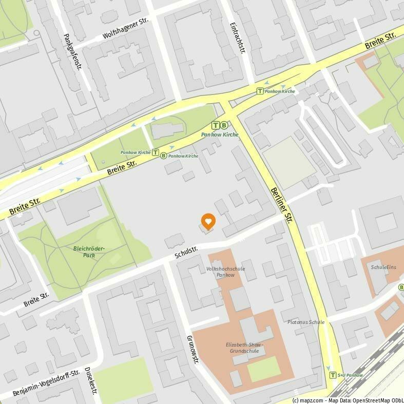 Schulstraße 4, 13187 Berlin, Ausschnitt von mapz.com